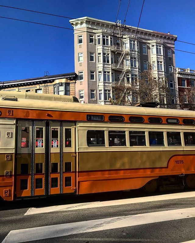 #sanfrancisco #sf #california #ca #castro #tram #trolley #howsfseessf #us #usa #america #hot #ilovela #california #cali #urbanart #ic_cities #city #urban #love #igshots #justgoshoot #fabshots #popularpic #loveit #architecture #vacation #nowrongwaySF #untappedcities #upoutsf