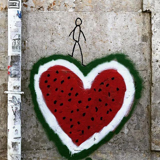 #lisbon #lisboa #streetart #graffiti #portugal #photooftheday #watermelon #streetphotography #abstractmybuilding #picoftheday #beautiful #shapes #cool #view #architecture #europe  #love #weekend #travel #instagood #picoftheday #traveling #instatravelhub #holiday #vacation #travelling #ilove #instatravel #heart