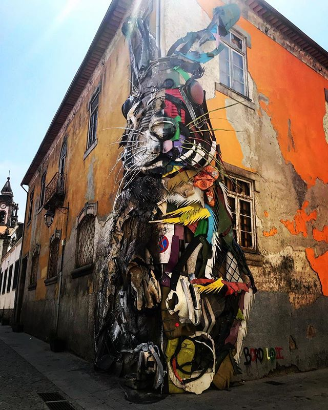 #porto #oporto #streetart #halfrabbit #bordalo #lookingup #portugal #photooftheday #streetphotography #abstractmybuilding #picoftheday #beautiful #shapes #cool #view #architecture #europe  #love #weekend #travel #instagood #picoftheday #sun #traveling #instatravelhub #holiday #vacation #travelling #ilove #instatravel